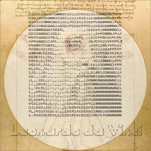 Leonardo da Vinci ASCII art